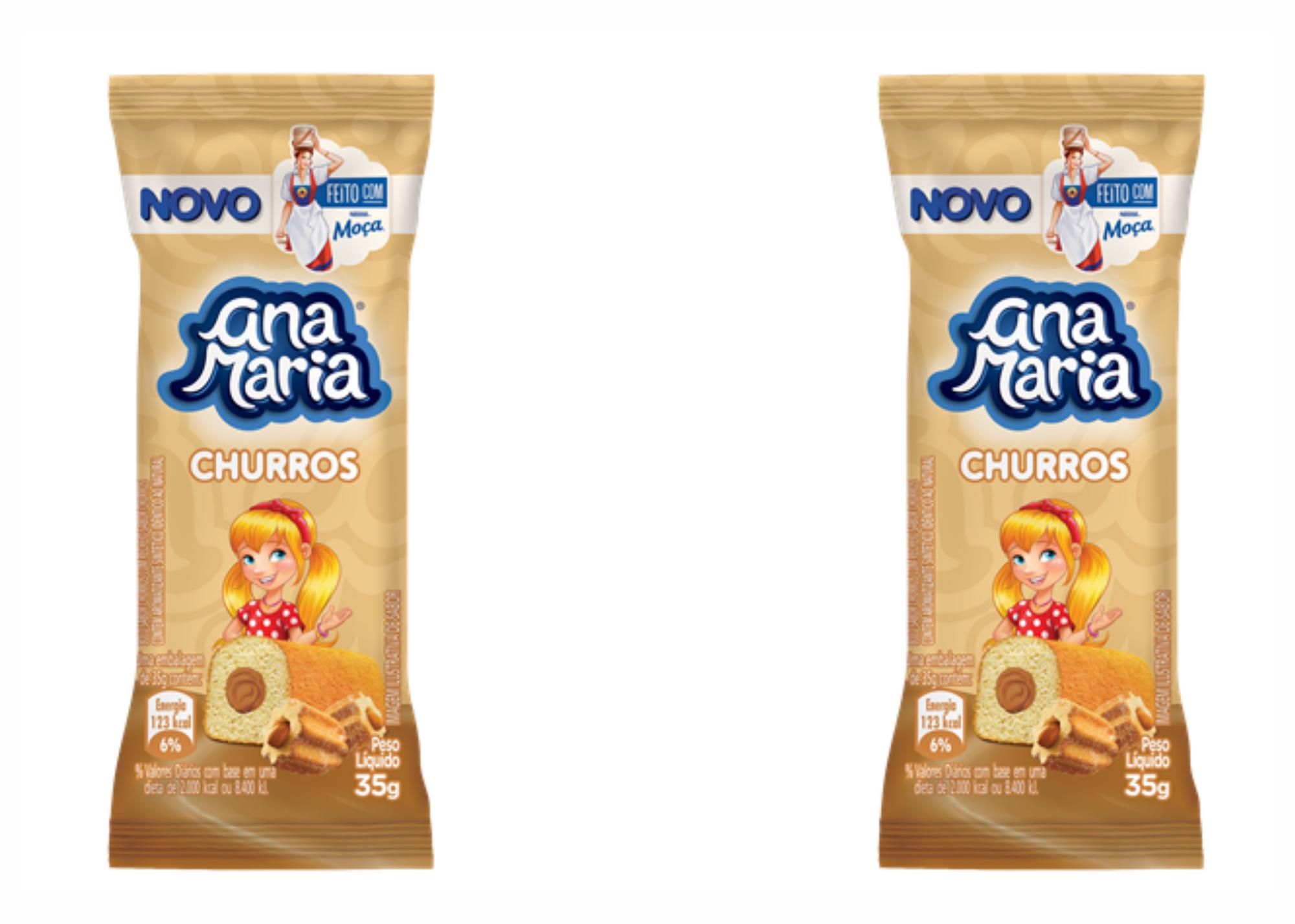 Ana Maria lança bolinho sabor Churros feito com Leite Moça