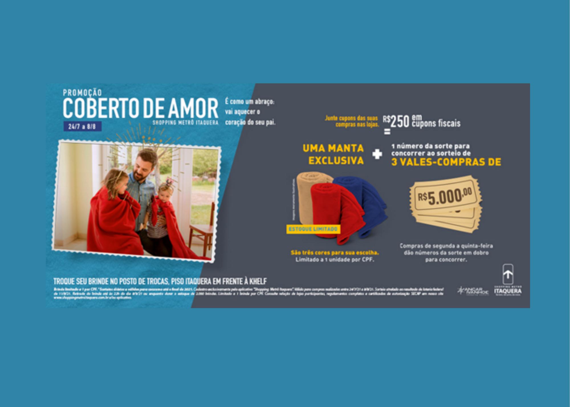 Shopping Metrô Itaquera presenteia pais com cobertores