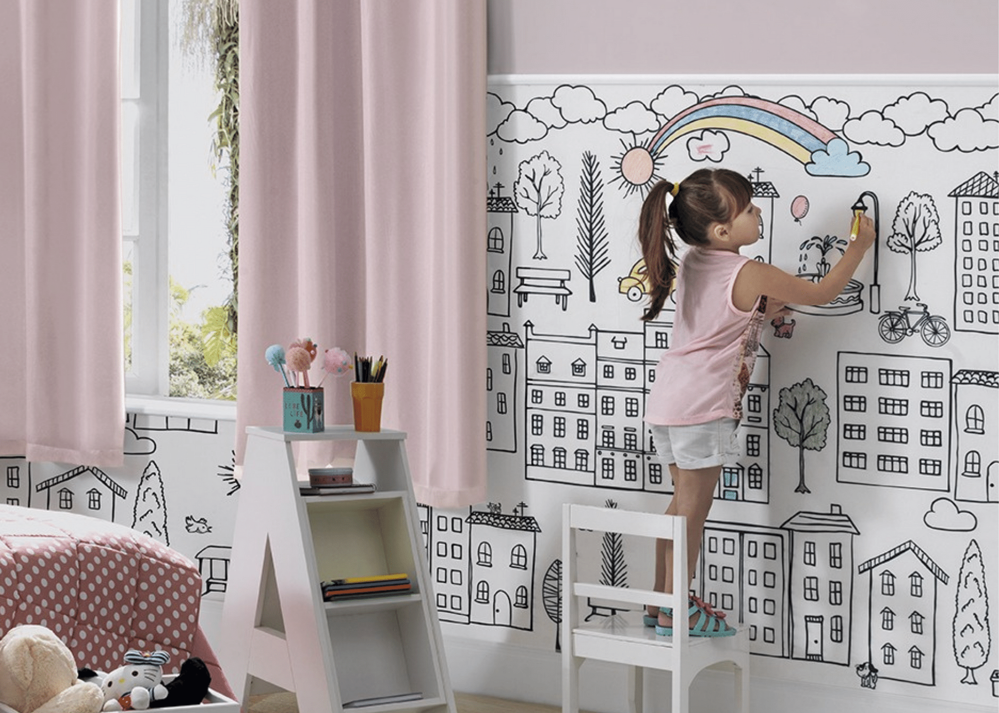 Bella Janela lança segunda coleção do tecido de parede de pintar